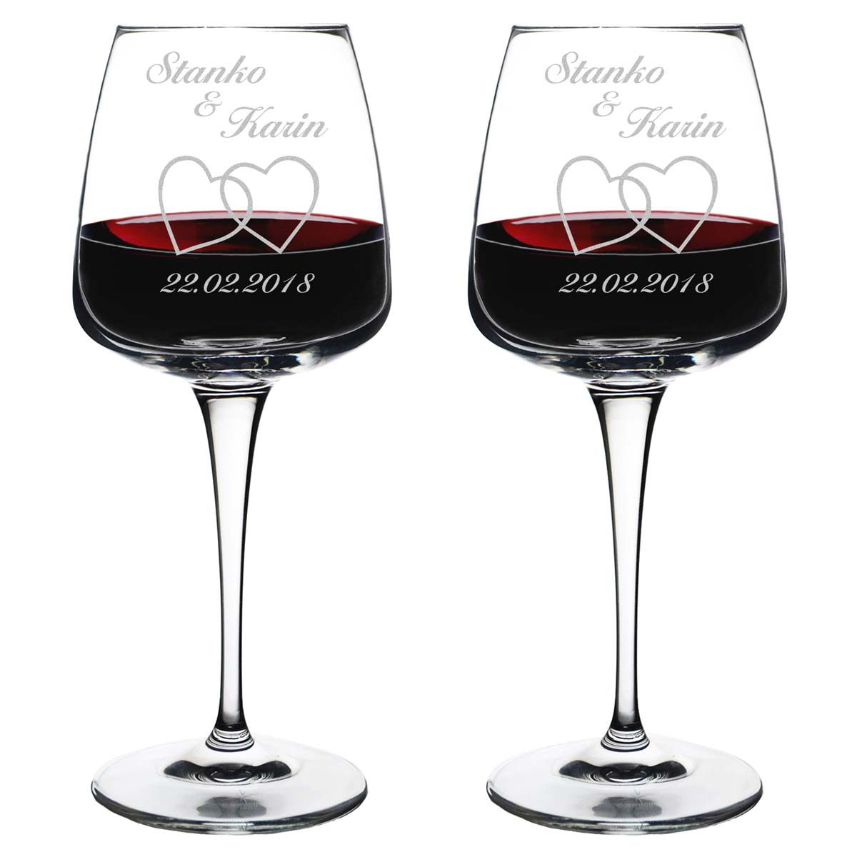 2 copas de vino con boda grabado personalizada regalo copa de vino ebay. Black Bedroom Furniture Sets. Home Design Ideas