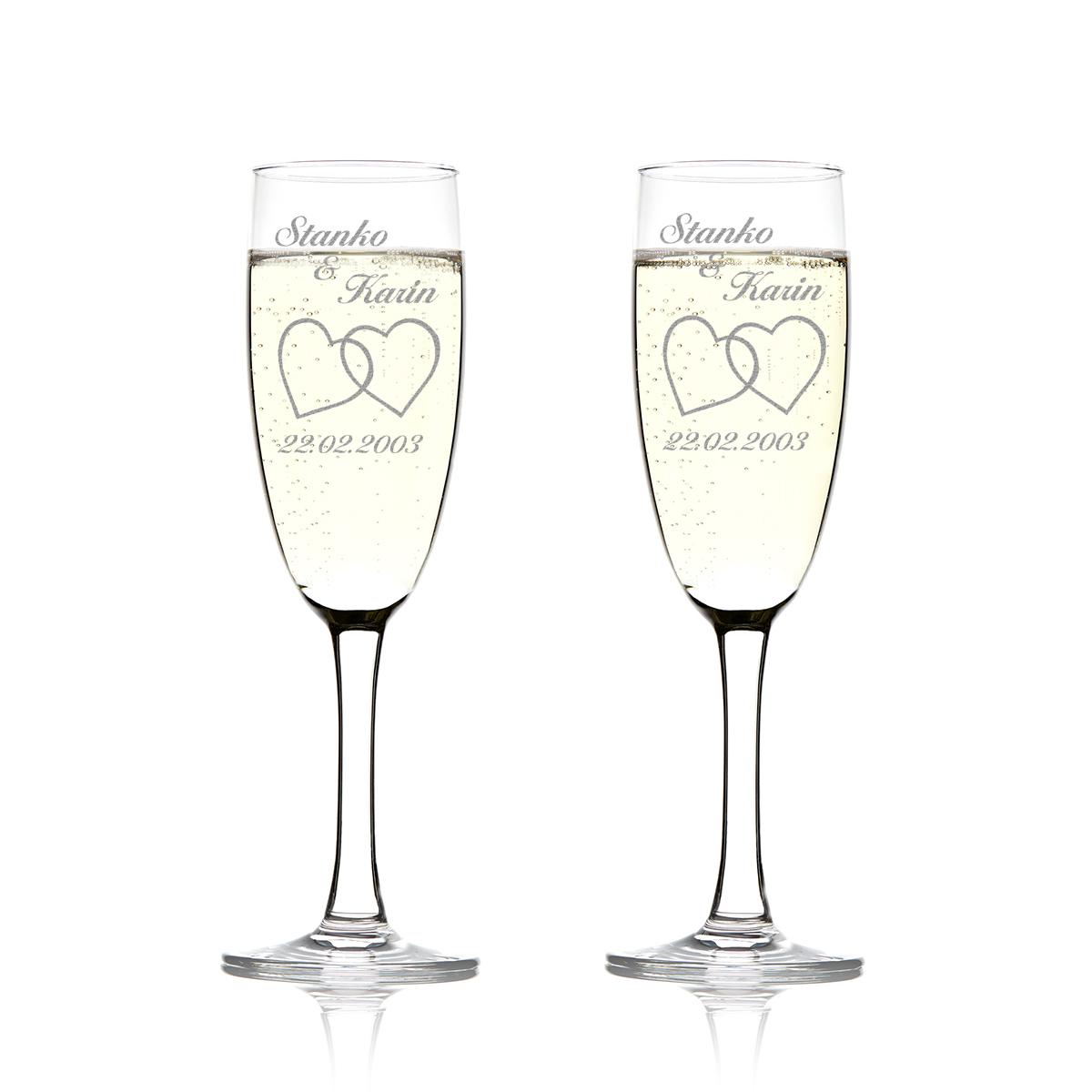 2 Set Sektgläser mit Gravur Personalisierter Hochzeit Geschenk | eBay