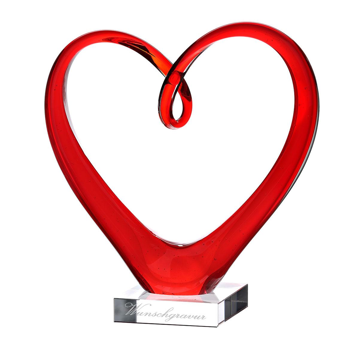 Leonardo Escultura En Cristal En Forma De Corazón Incl Grabado Ebay
